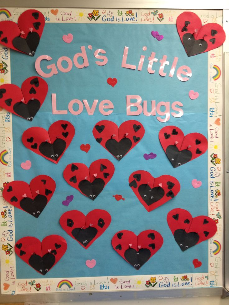 Valentines day bulletin board 2014