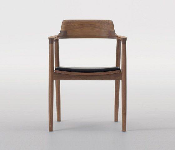Hiroshima Arm Chair High (Cushioned) by MARUNI | Restaurant chairs