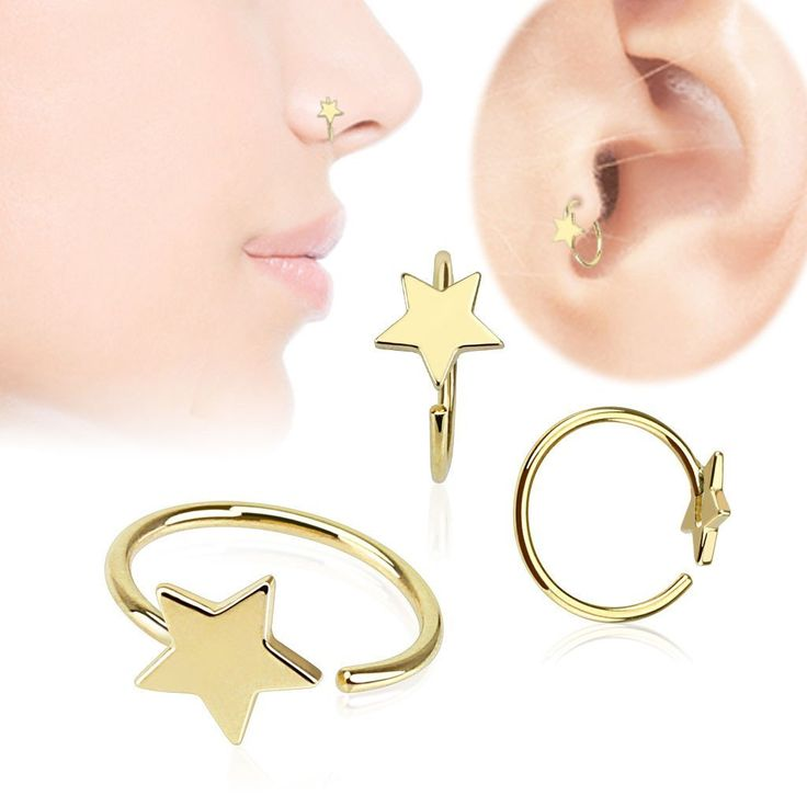 how to make a nose ring out of an earring