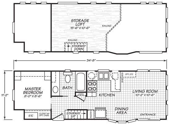 park model plans home park models cavco virginia park models 200 series - Tiny House Blueprints