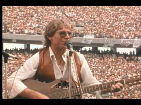 John Denver sings Country Roads at Mountaineer Field the day it opened on Sept. 6, 1980.