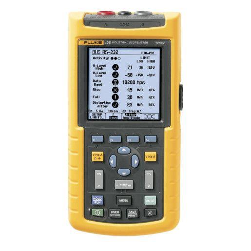 Fluke 125/S Industrial ScopeMeter (40 MHz) + SCC120 | Maplin
