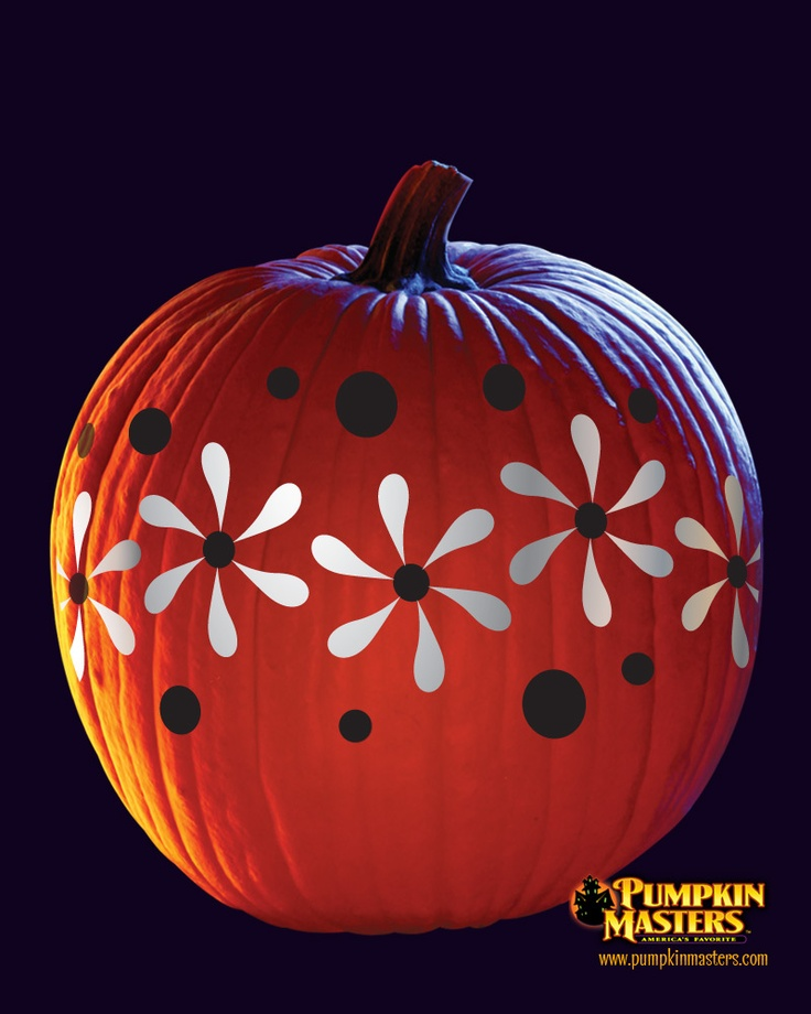 Quot flowers pattern from the pumpkin masters paint carve