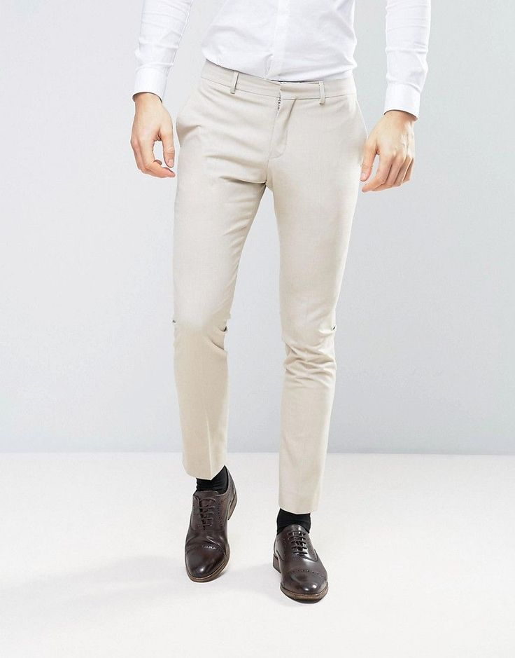 Selected Homme Wedding Skinny Suit Pants - Stone