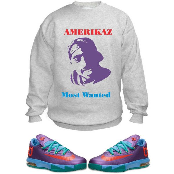 2Pac Sweatshirt for Nike KD 6 Kevin Durant Rugrat Shoes ($25) found on  Polyvore