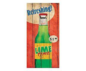 Stampa fine art su canvas con telaio in legno Refreshing! - 70x35x4 cm