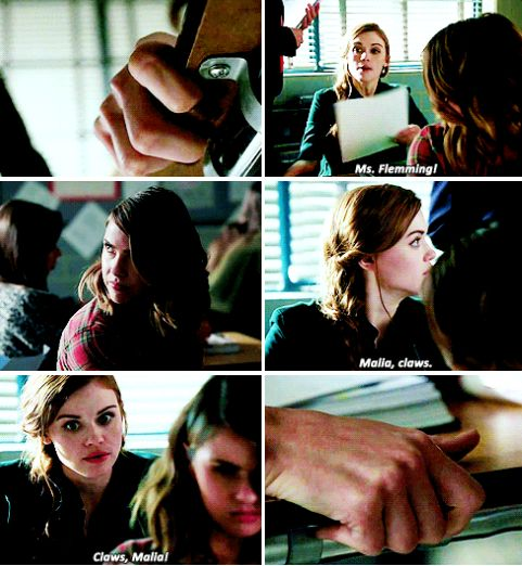 Teen Wolf 6x02 - when you've gotta stop your girlfriend from coyote-ing out in class