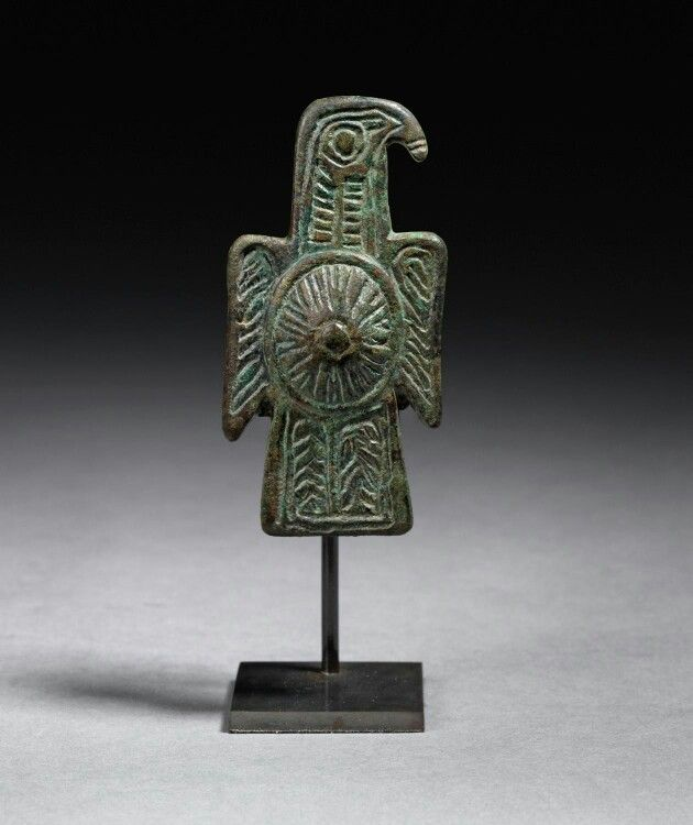 Bronze eagle brooch. Visigoth, c.525-560 A.D.   Master Art Gallery
