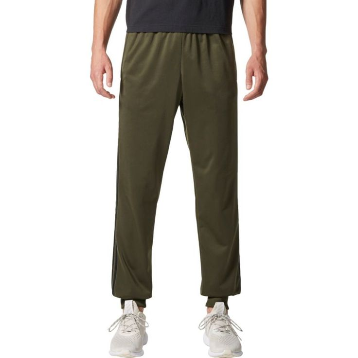 adidas Men's Essentials 3-Stripes Tapered Pants, Size: Large, Brown