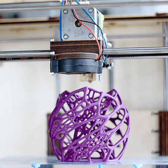 3d printed purple vase; you can make your own with a Pirx printer