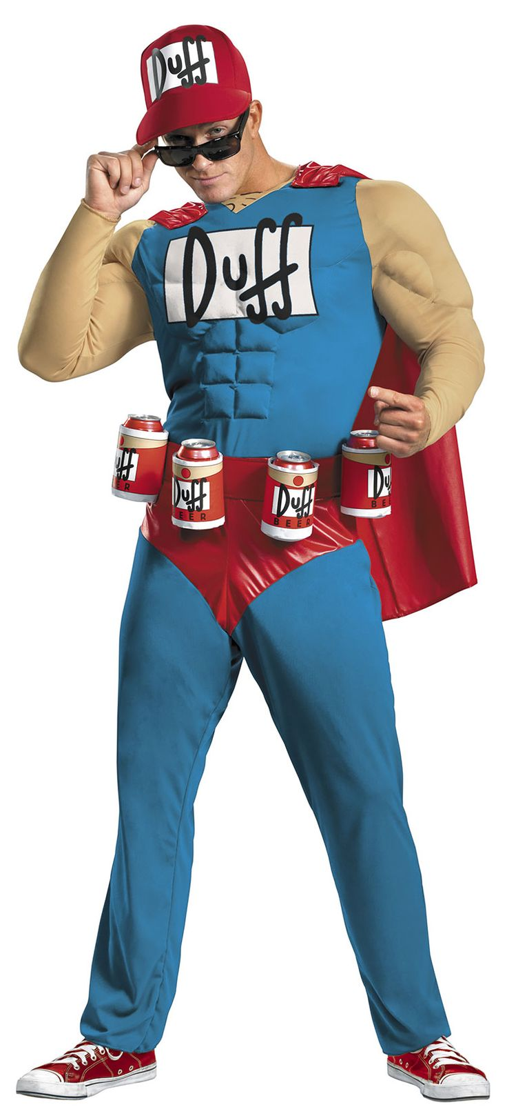 Funny Muscle Duffman Costume - The Simpsons Costumes