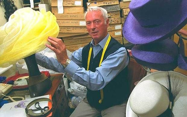 Philip Somerville, born February 12 1930, died 14109/14 Famous Milliner whose hats adorned the Queen and Princess Diana, as well as James Bond's femmes fatales
