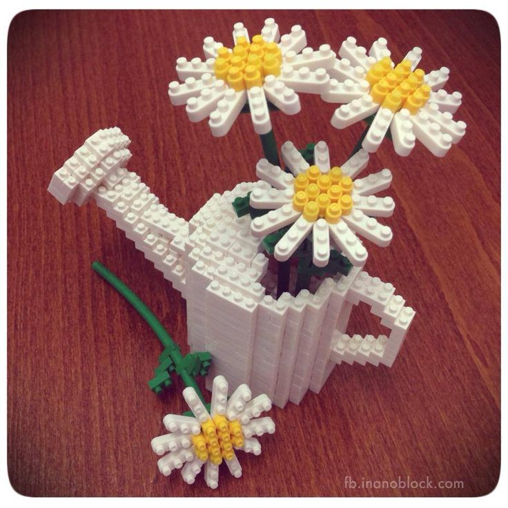 nanoblock Daisies in a watering can =)