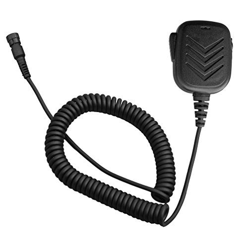 Arama A600Y04 Rainproof Lightweight Handheld Shoulder Speaker Mic with PTT for Yaesu VX-8R VX-8DR VX-8 VX-8E VX-9U Two Way Radio -- Check out this great product.
