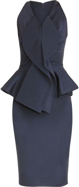 GIVENCHY --been pinned a few times -but I feel this dress deserves a re-pin for the new followers of The Boo'tique :-)   GIVENCHY MIDNIGHT SKIES Peplum Dress