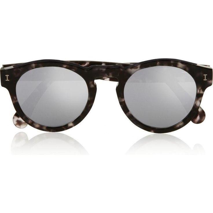 Kristin Cavallari wearing Illesteva Leonard Round-Frame Acetate Mirrored Sunglasses
