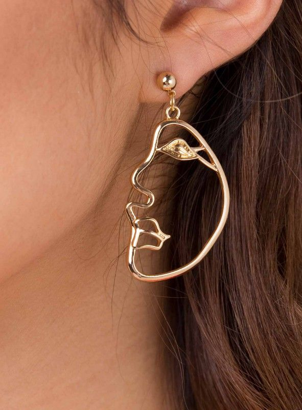 Gold Salvador Face Earrings