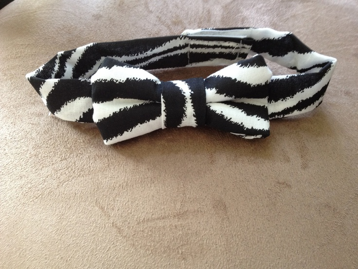 Zebra Bow Tie Collar for Dog or Cat by BellieBoop on Etsy, $9.00