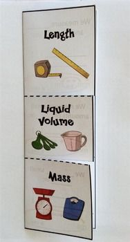 This foldable to teach students compare and convert measurements of weight, capacity, and length using the metric system. Vocabulary: centimeter, millimeter, meter, kilometer, milliliter, liter, milligram, gram, kilogram.Option to print out in color and double sided!