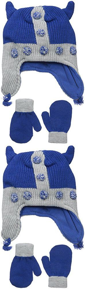 The Children's Place Baby Novelty Hat and Mittens Set, Viking/Inked, Small/12-24 Months
