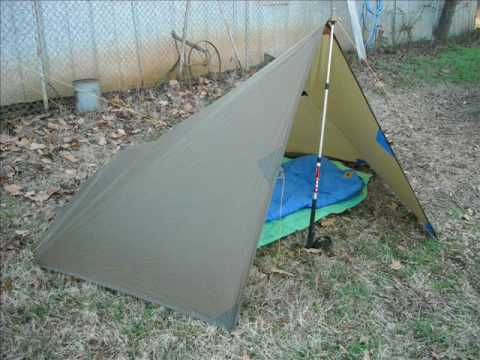Tarping..a video showing how to set up a tarp two different ways.