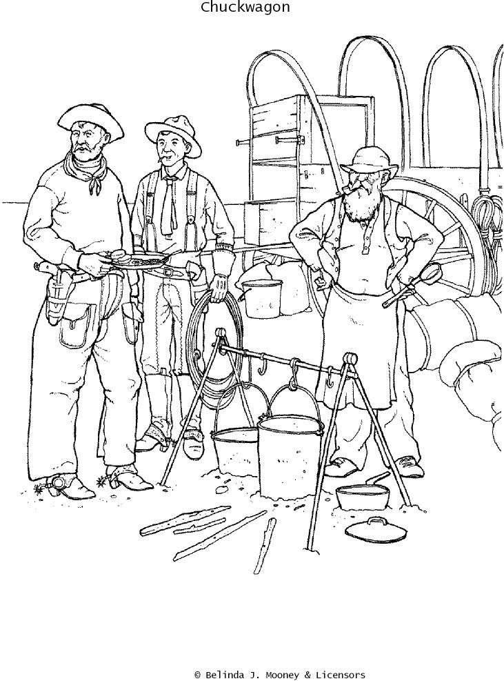 western coloring book pages - photo#15