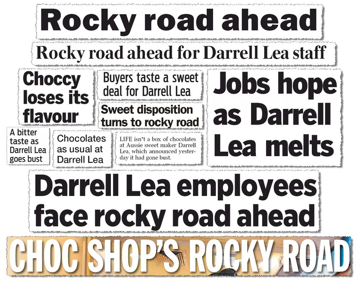Has a company collapse ever spawned as many puns as Darrell Lea's? Challenge: make a Darrell Lea pun with licorice. Go on.