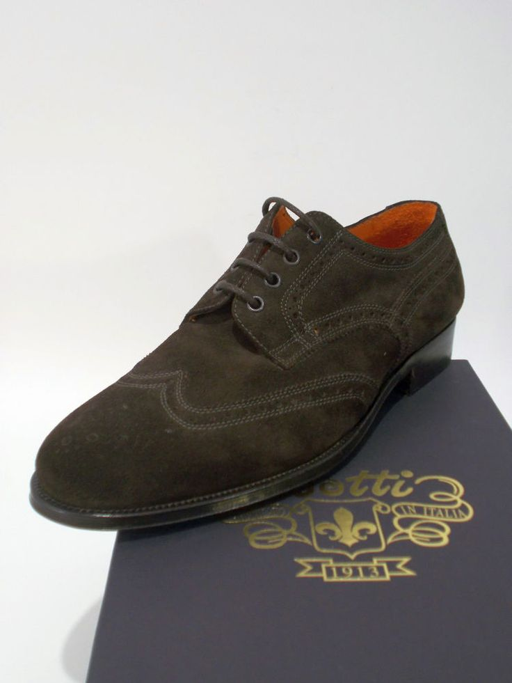 BOTTI scarpa uomo CLASSICA DERBY pelle vitello MARRONE tg.8½(UK) 42½(IT) NIB