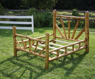 DIY Log Bed Frame