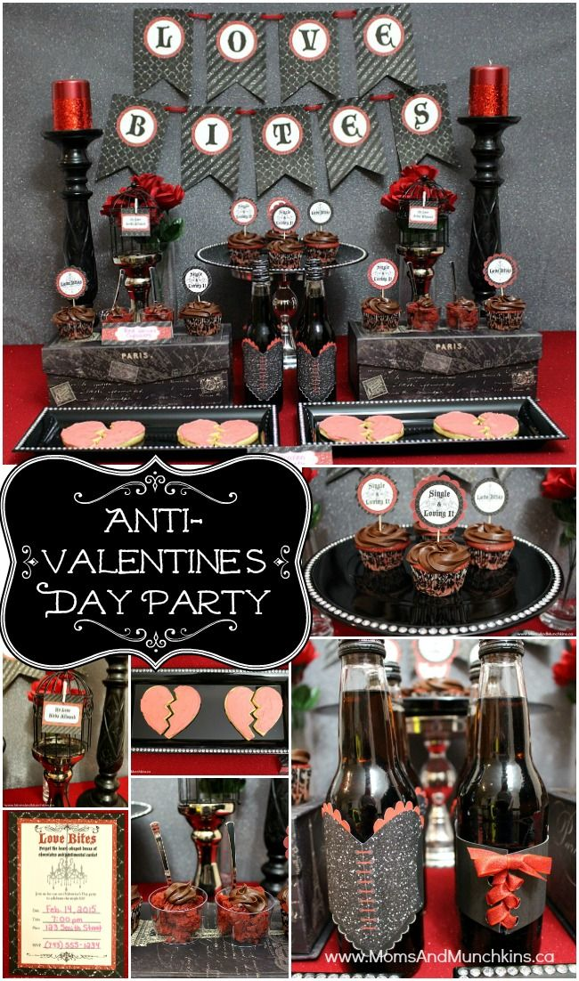 Anti-Valentine's Day Party - perfect for a Single's Valentine's Day Party!