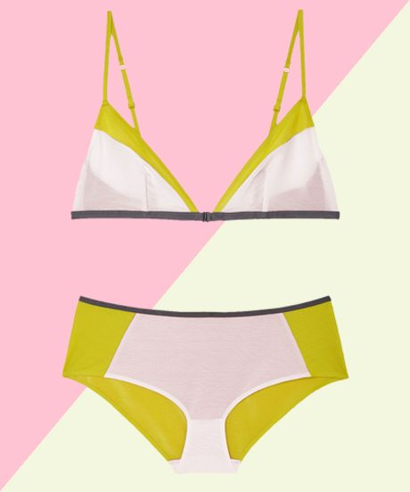 Non-Lace Sexy Lingerie - Mesh and Cotton Bras Underwear | We found 18 non-lacy sets that are unexpectedly sexy and undoubtedly cool. #refinery29 http://www.refinery29.com/non-lace-lingerie