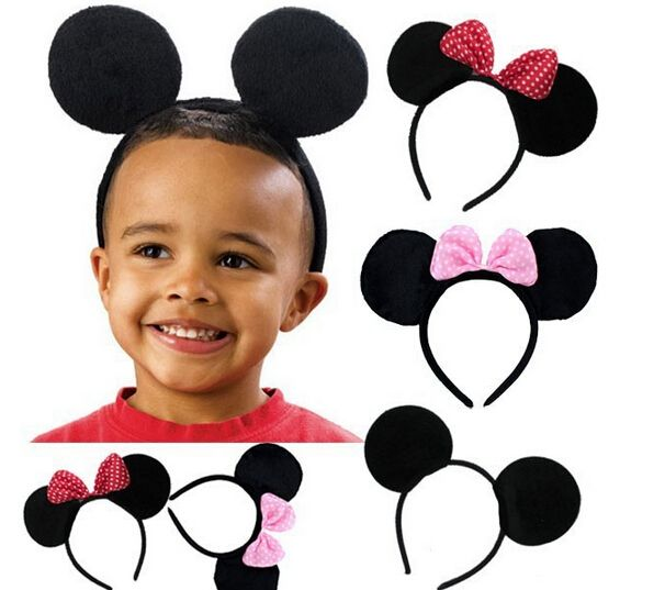 10pcs Children Hair Accessories Mickey Minnie Mouse Ears Headbands Birthday party Decoration Boys Girls headband Party Supplies on Aliexpress.com | Alibaba Group