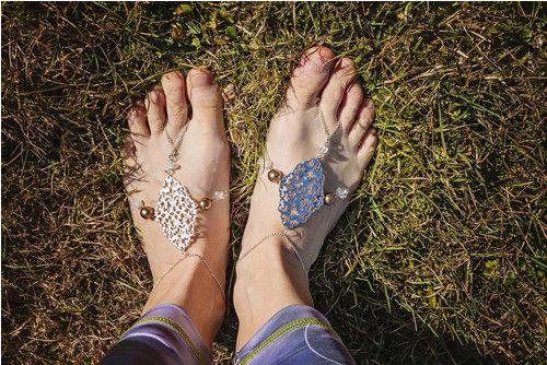 Náramky na nohu s křišťály