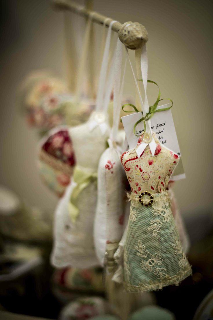 Lavender filled mannequin hangers, made using vintage & antique textiles and…