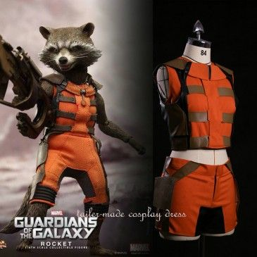 Guardians of the Galaxy Cosplay Rocket Raccoon Adult Costumes good insperashon