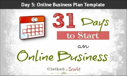 Day 5: Online Business Plan Template {Free Download}