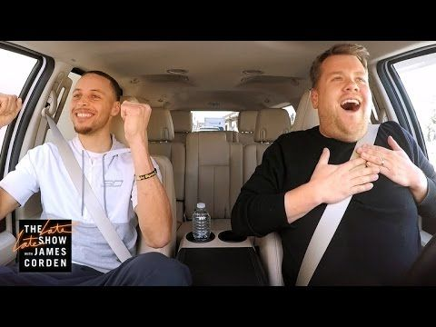 James Corden & #SFWarrior's Steph Curry sing #Disney songs in #CarpoolKaraoke
