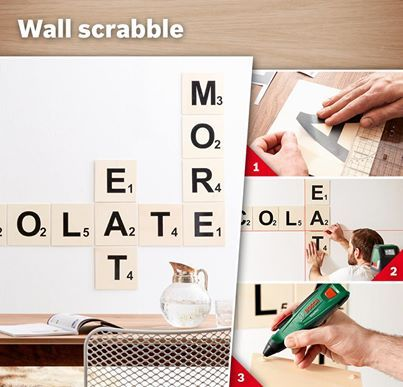 Unique  DIY Scrabble art wall Ddecoration So sweet yet so easily made with