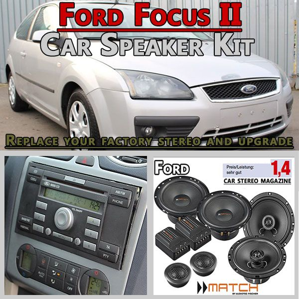 Ford Focus Ii Car Speakers Upgrade Kit For Front And Rear Doors Hifi Radio Adapter Eu 2004 2010 First Board