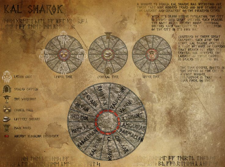 Kal Sharok Map | Mike Frost | Chronicles of Thedas RPG | Fantasy Art