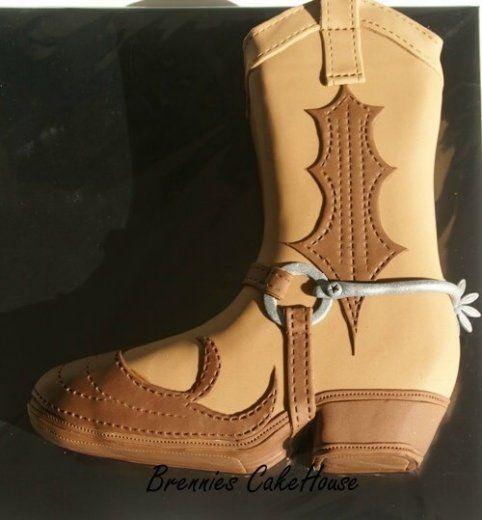 Cowboy boot cake tutorial