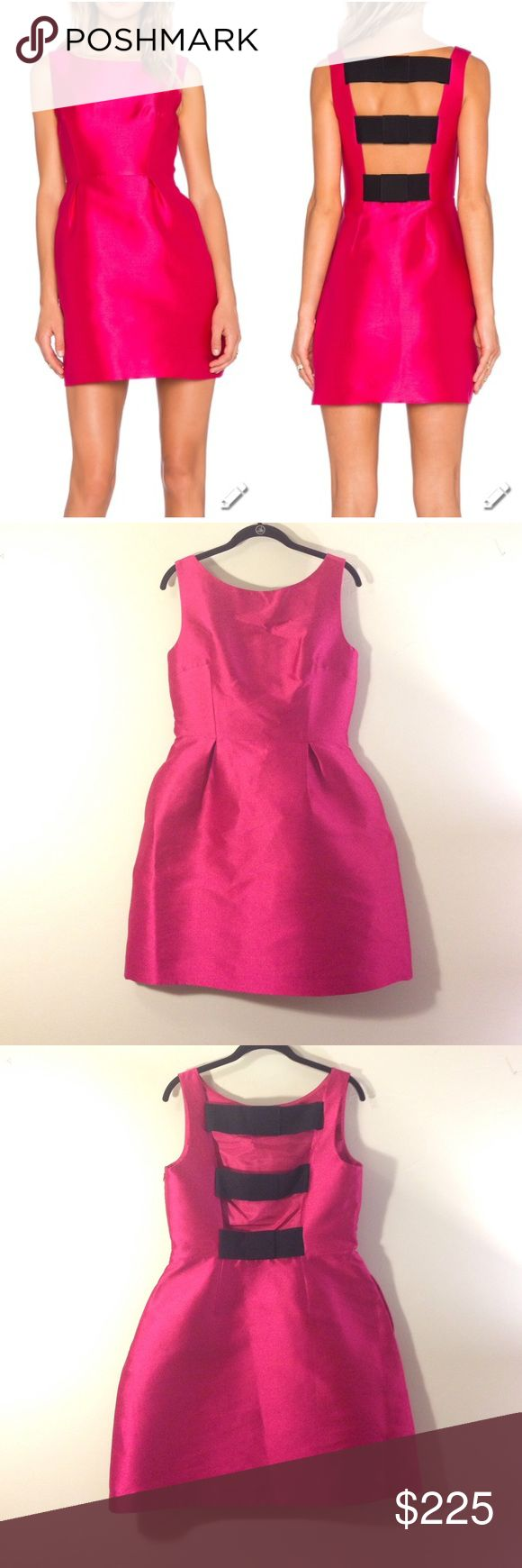 New Kate Spade Hot Pink Mini Dress size 10 This is the perfect cocktail dress! It's hot pink with a cute black back accent. Great with heels or flats. This dress is brand new with tags. kate spade Dresses Mini