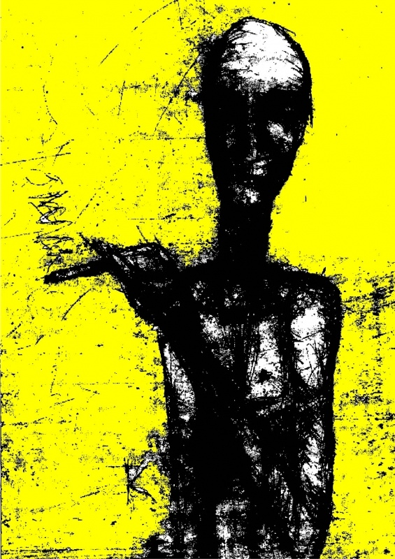 yellow smoker, originally drypoint