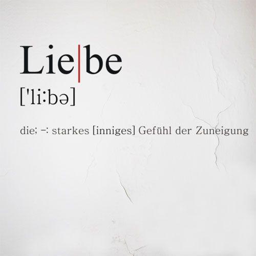 """Geschenkidee Wandtattoo """"Definition Liebe"""", 90x34cm"""