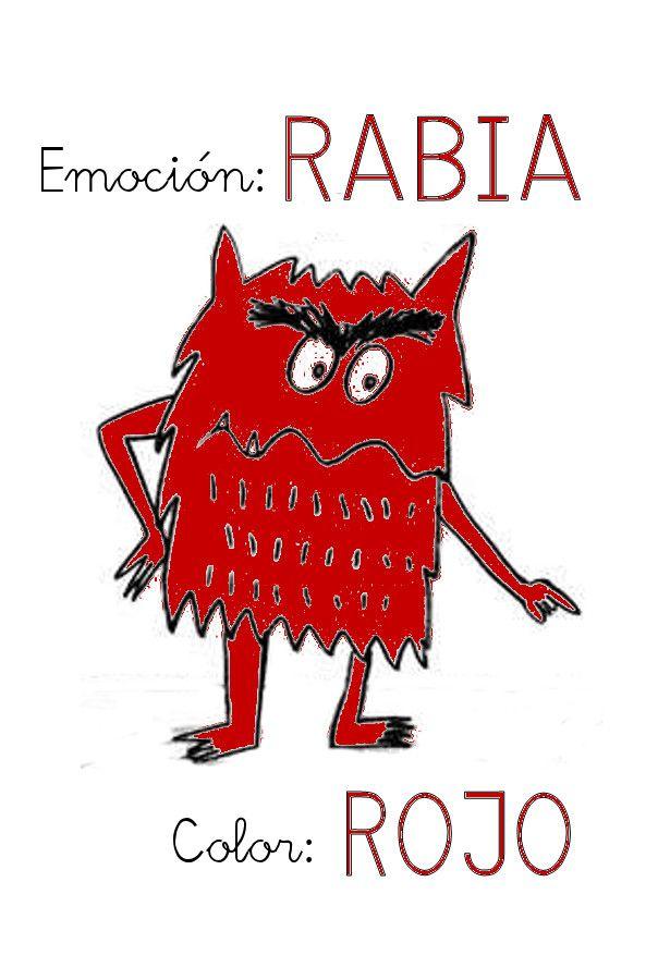 """1ª Sesión: Presentación de la Rabia y el color rojo.     Leemos la parte correspondiente a la rabia del libro """"El monstruo de colores..."""