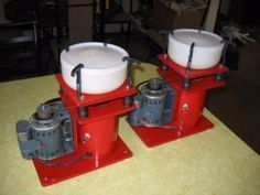 Vibratory Tumblers - Homemade vibratory tumblers driven by 1/40 HP motors. Constructed from PVC and equipped with 3lb. vibratory tumbler bowls.