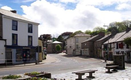 Camelford in North Cornwall.