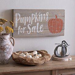 Pumpkins For Sale Wood Plank Plaque