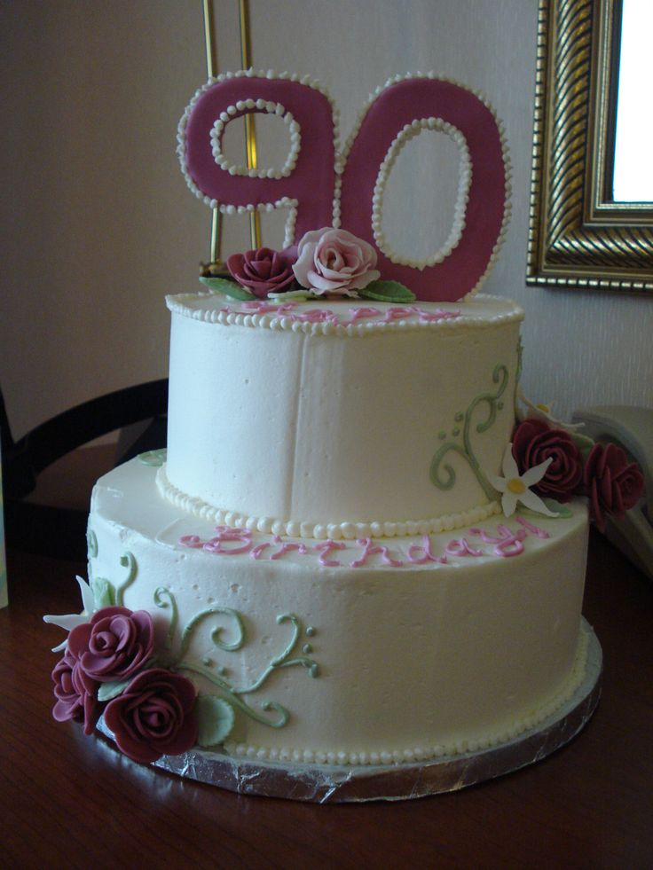 90th Birthday Rose Cakes90th