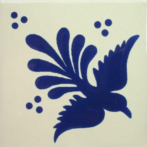 Especial Decorative Tile - Volar Azul – Mexican Tile Designs